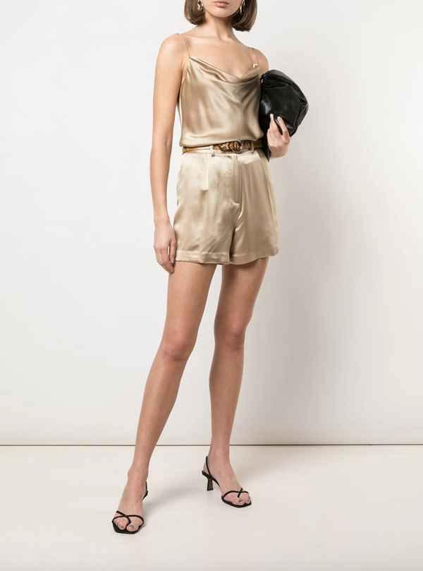 Nili Lotan Gemma Top - Khaki @ Hero Shop SF