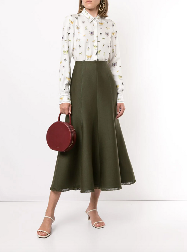 Gabriela Hearst Amy Skirt - Olive @ Hero Shop SF