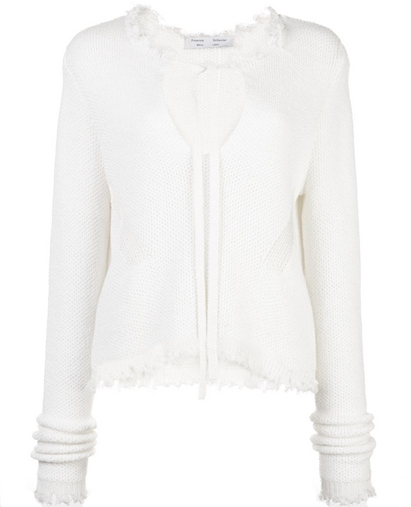 Proenza Schouler White Label Frayed Edges Crop Pullover @ Hero Shop SF