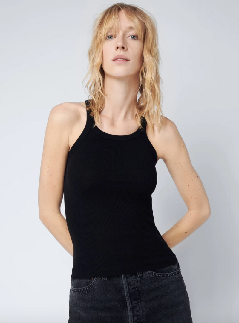 RE/DONE The Ribbed Tank - Black @ Hero Shop SF