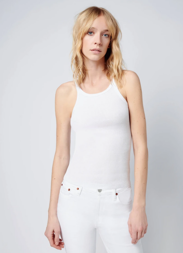 RE/DONE The Ribbed Tank - White @ Hero Shop SF