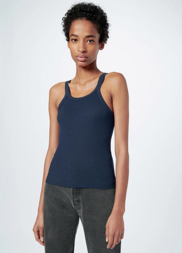 RE/DONE The Ribbed Tank - Navy @ Hero Shop SF