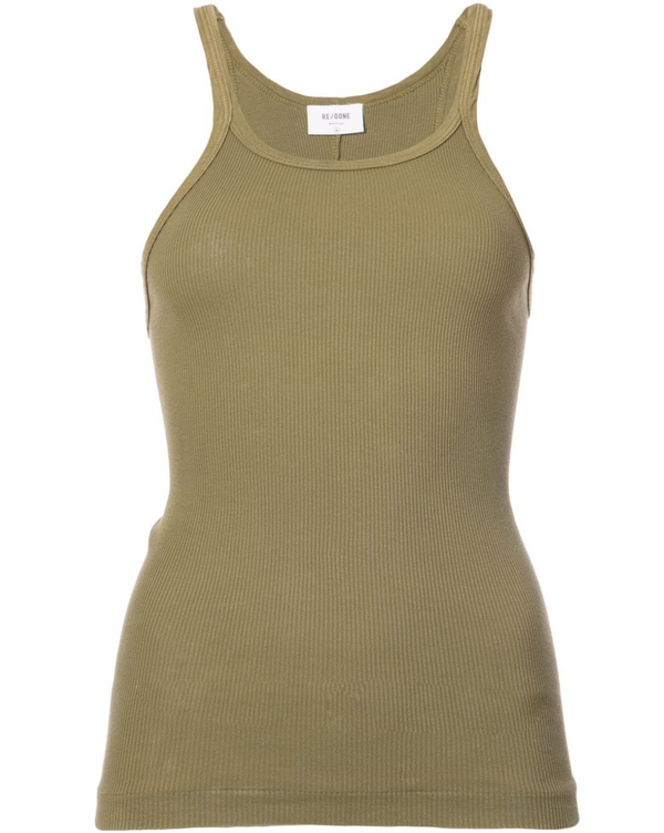 The Ribbed Tank - Army Green