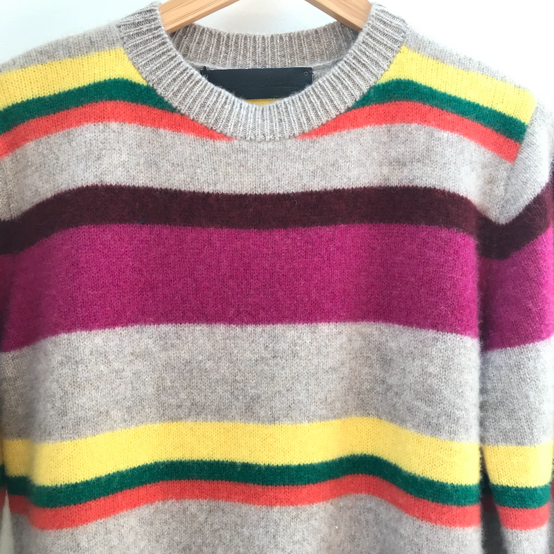 The Elder Statesman Boardwalk Stripe Crew @ Hero Shop SF