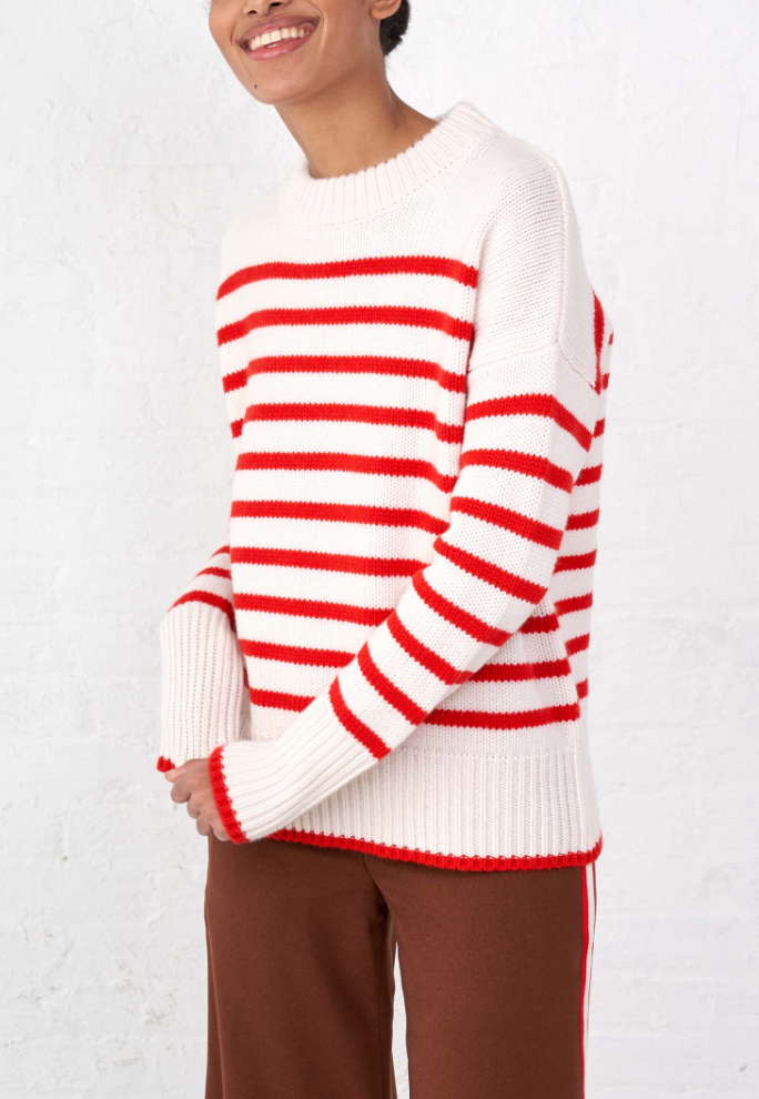 La Ligne Marin Sweater - Cream / Red @ Hero Shop SF