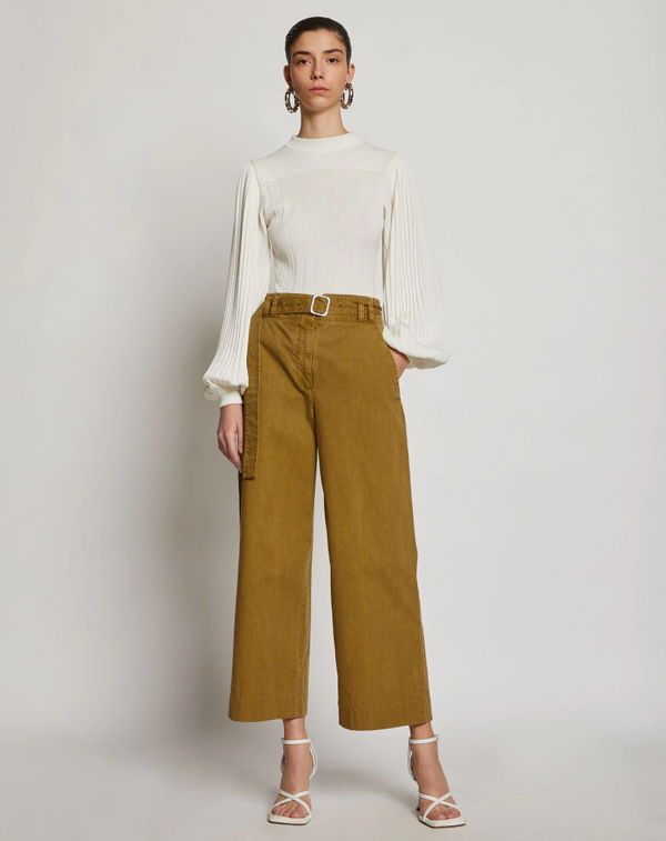 Proenza Schouler White Label Washed Cotton Belted Pant @ Hero Shop SF
