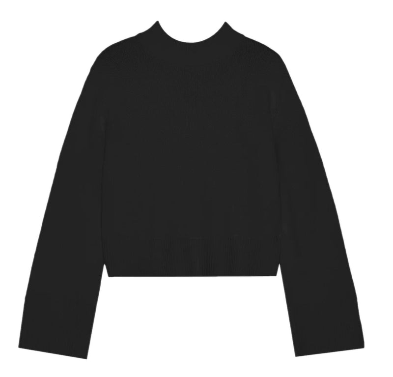 Cashmere Boxy Crewneck Sweater - Black @ Hero Shop SF