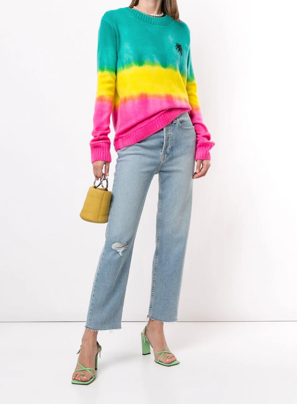 The Elder Statesman Gradient Dye Palm Tree Sweater @ Hero Shop SF