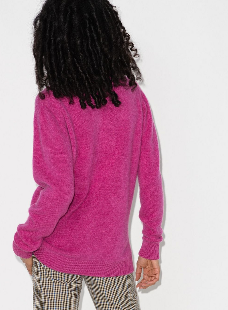 The Elder Statesman Simple Crew - Hot Pink @ Hero Shop SF