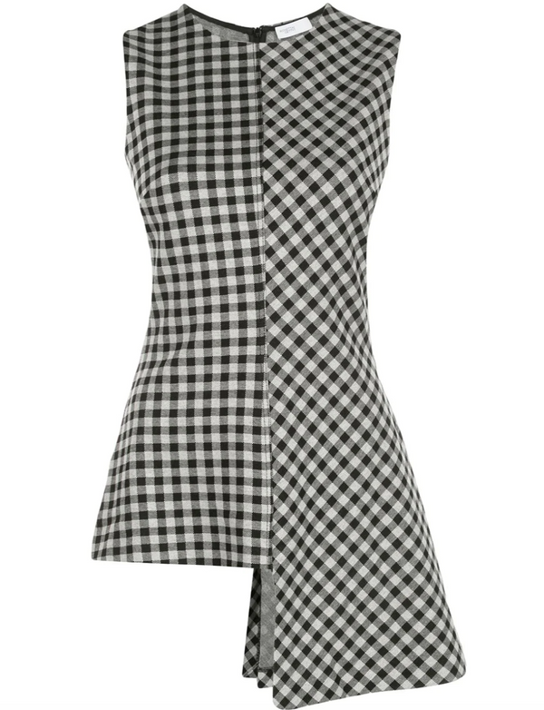 Rosetta Getty Fluted Top - Gingham @ Hero Shop SF