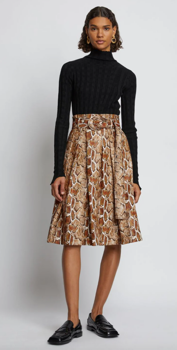 Proenza Schouler White Label Faux Snakeskin Belted Skirt @ Hero Shop