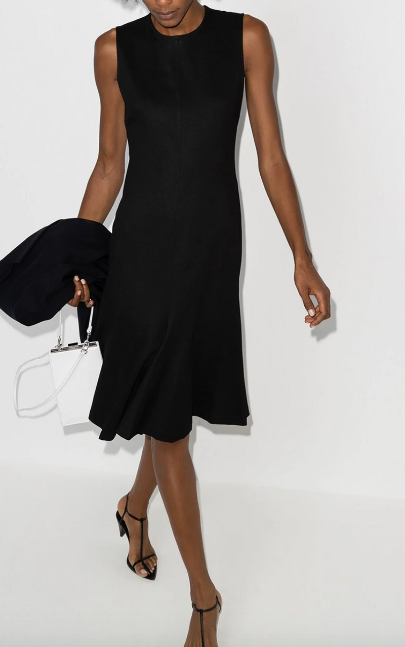 Rosetta Getty Fluted Dress - Black @ Hero Shop