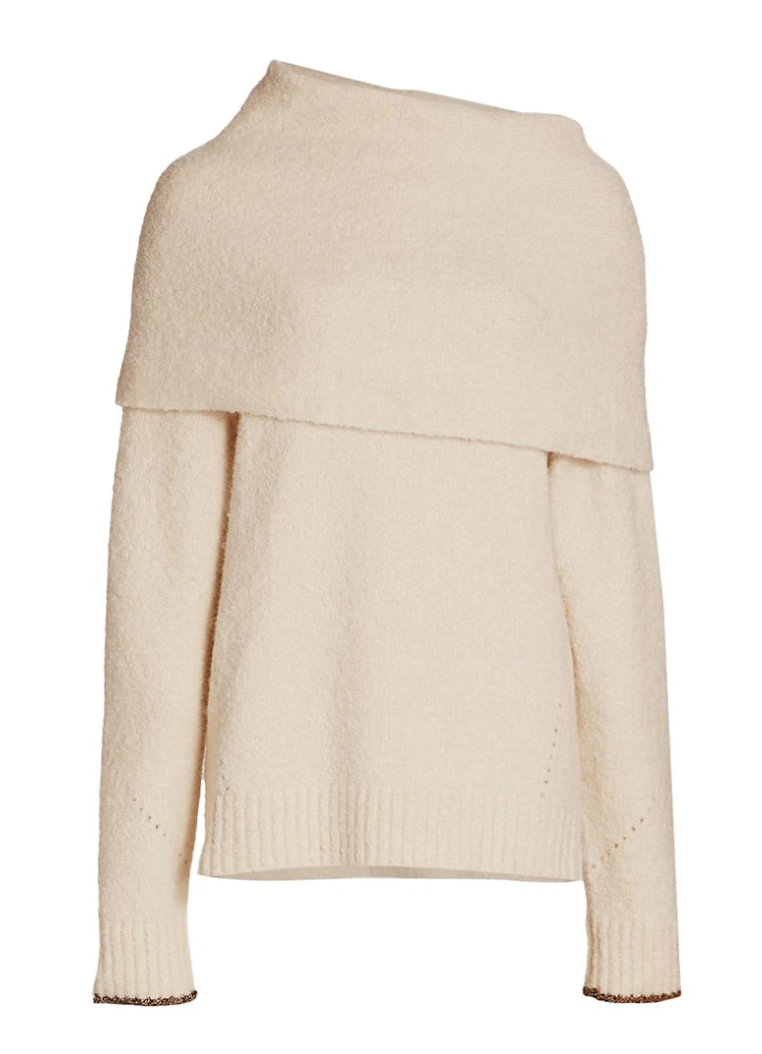 Proenza Schouler Textured Fold Over Knit Top @ Hero Shop