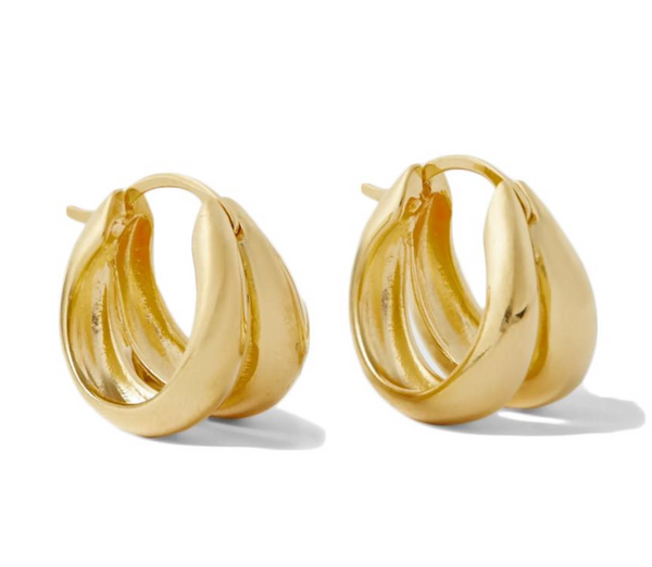 Sophie Buhai Large 1930 Double Hoops - Gold @ Hero Shop