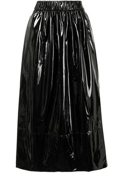Stretch Patent Full Skirt