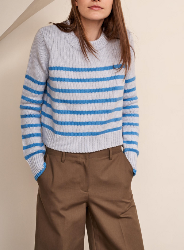 La Ligne Mini Marin Sweater - Light Blue Stripe @ Hero Shop