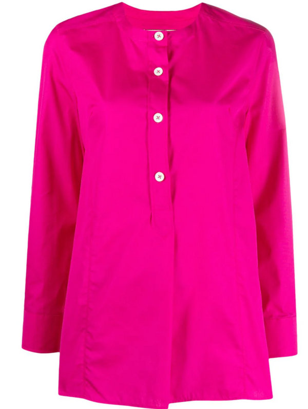 Marni Long Sleeve Poplin Top - Raspberry @ Hero Shop