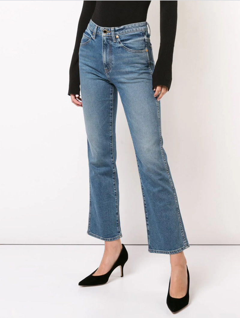Khaite Vivian Cropped Flared Jeans @ Hero Shop