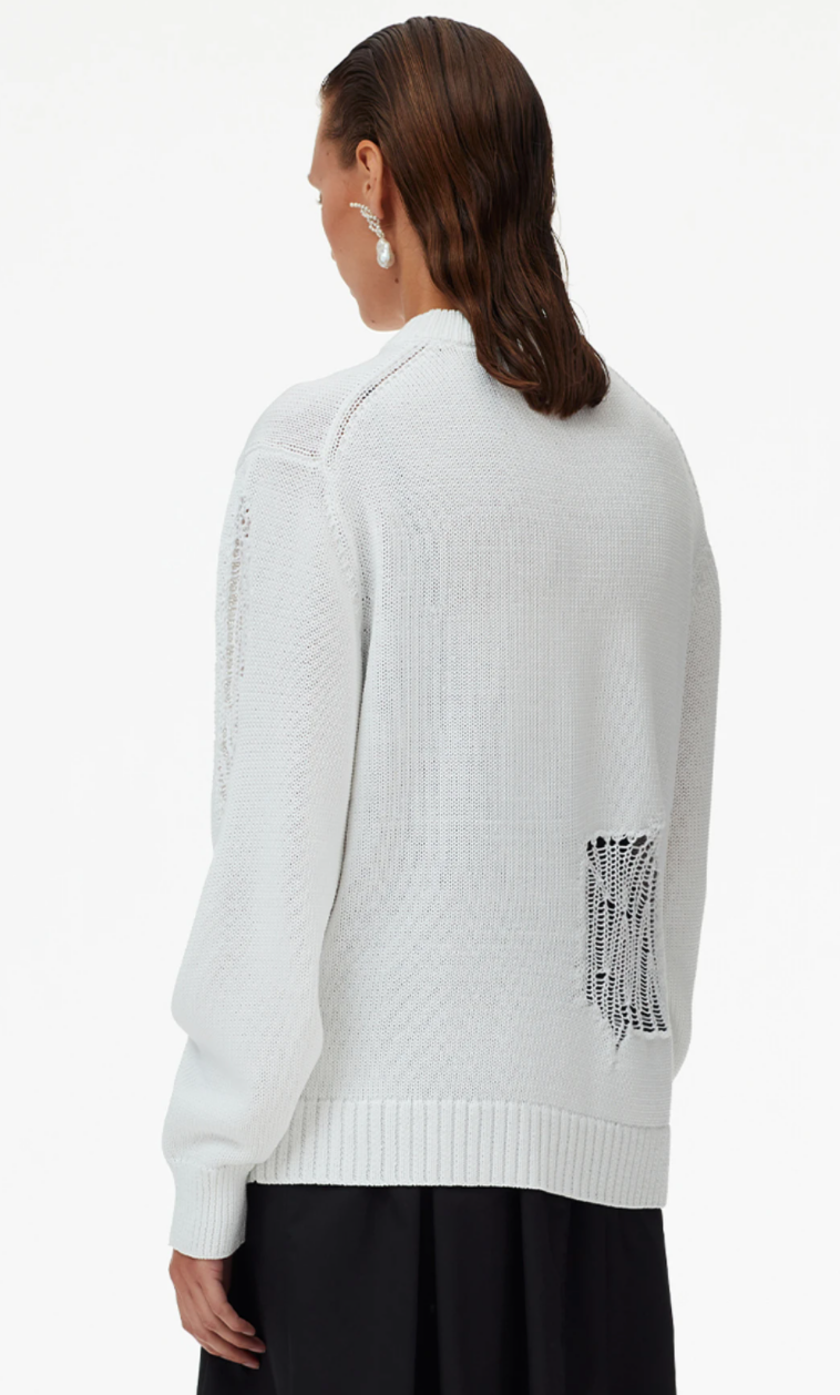 Tibi Applique Cotton Crewneck Pullover @ Hero Shop
