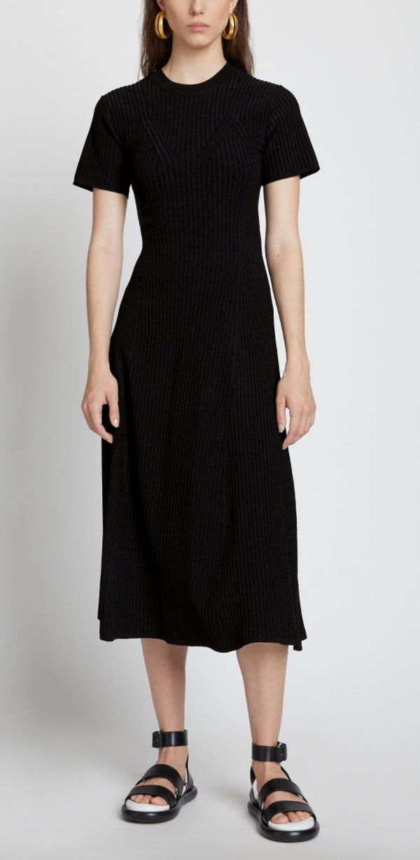 Proenza Schouler White Label Rib Detail Cut Out Dress @ Hero Shop