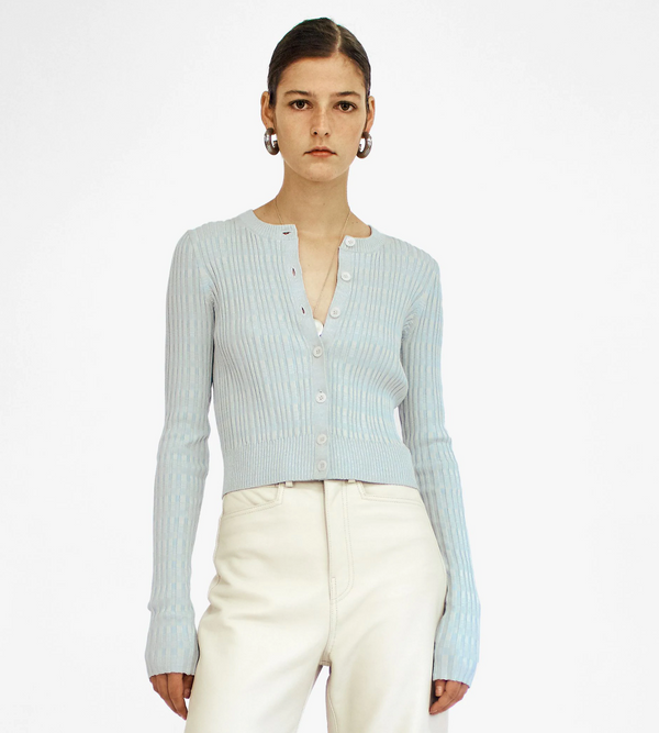 Proenza Schouler White Label Mini Geo Rib Cardigan @ Hero Shop