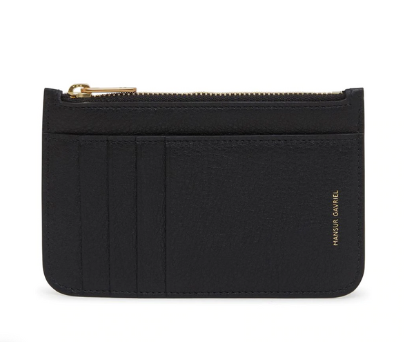 Mansur Gavriel Zip Card Holder - Black @ Hero Shop