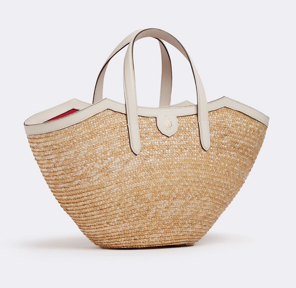 Mark Cross Madeline Straw & Leather Basket Bag @ Hero Shop