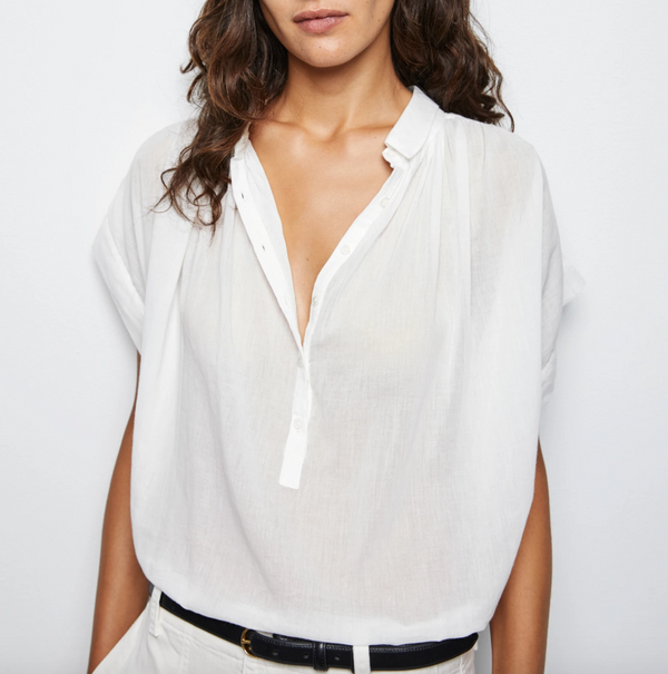 Nili Lotan Normandy Blouse - Ivory @ Hero Shop
