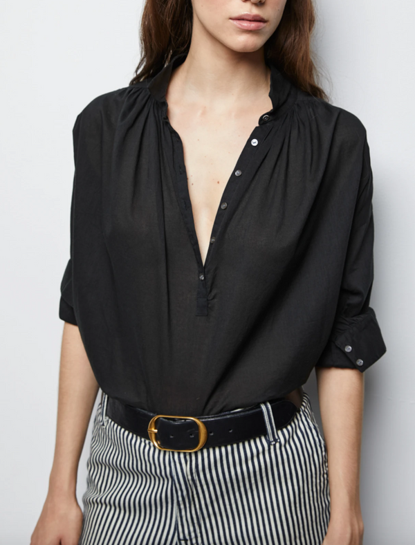 Nili Lotan Miles Blouse - Black @ Hero Shop