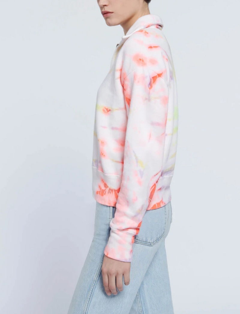 RE/DONE 70s Half Zip Sweatshirt- Neon Space Dye @ Hero Shop