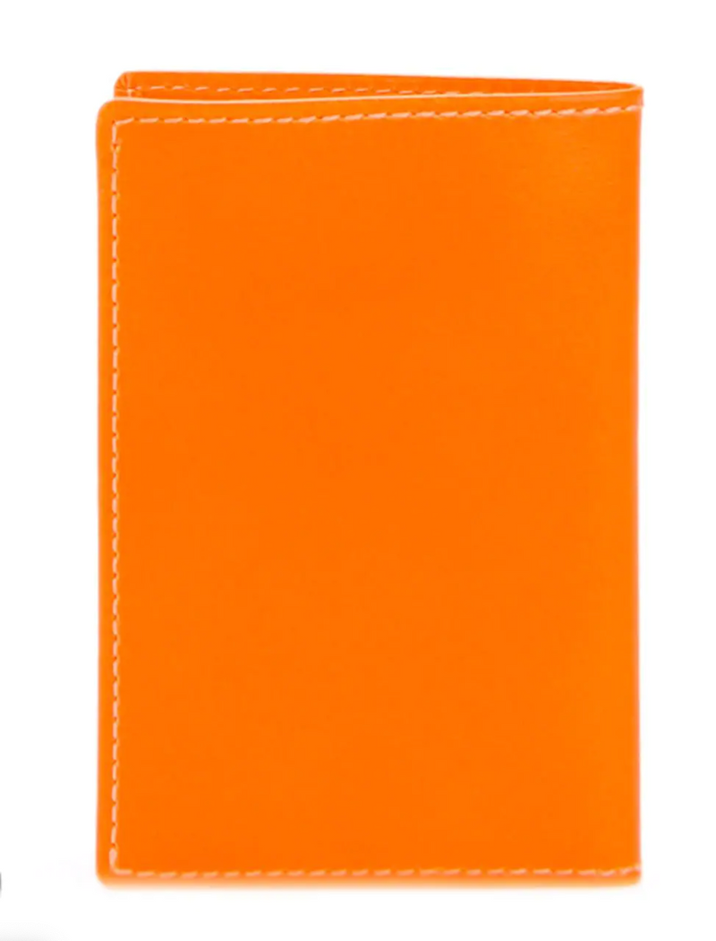 Comme Des Garcons Super Fluo Bi-Fold Wallet - Orange @ Hero Shop