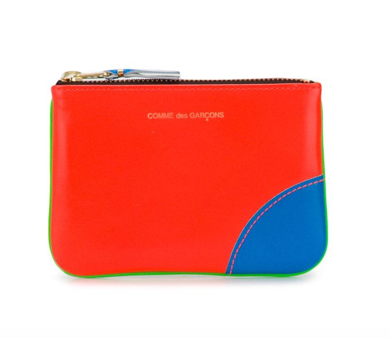 Comme Des Garcons Small Pouch - Fluo Orange & Green @ Hero Shop