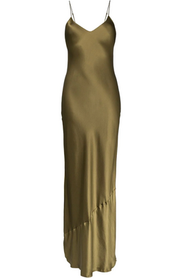 Nili Lotan Cami Dress - Long - Olive @ Hero Shop SF