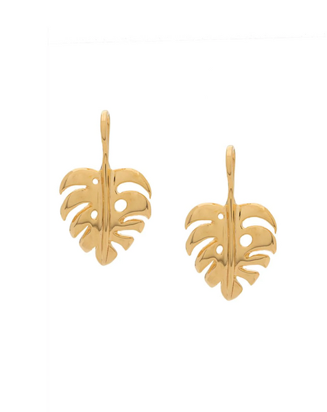 Aurelie Bidermann Small Leaf Earrings