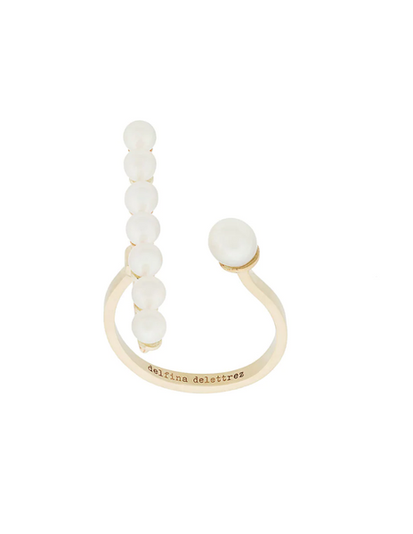 Delfina Delettrez Gold Vein Ring w Pearls