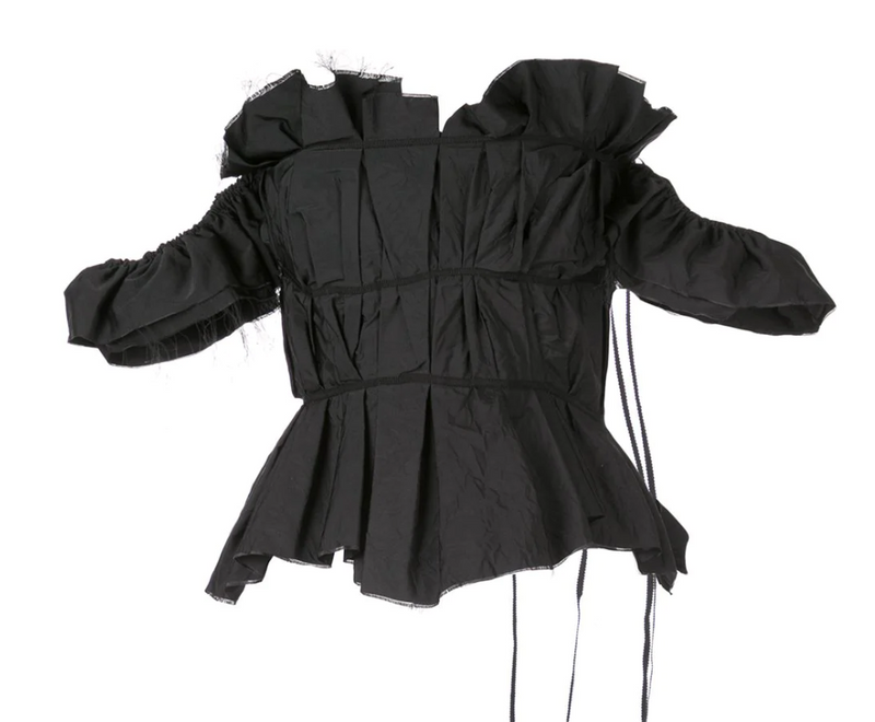 Brock Collection Pioppo Top in Black Taffeta
