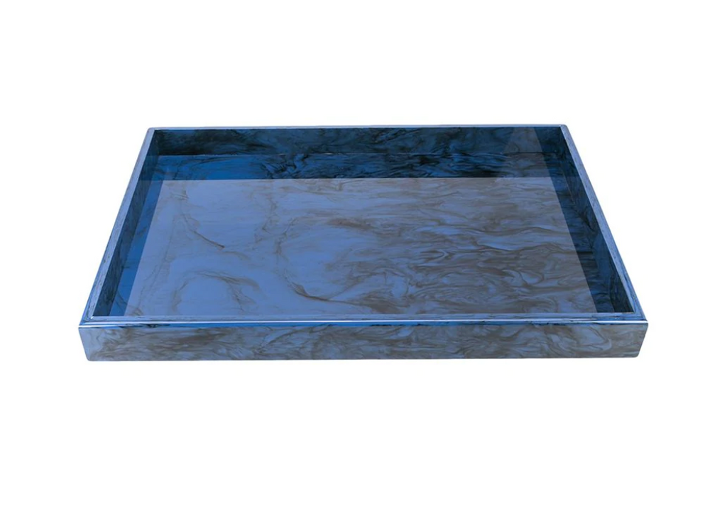 Edie Parker Large Solid Tray in Blue Lapis