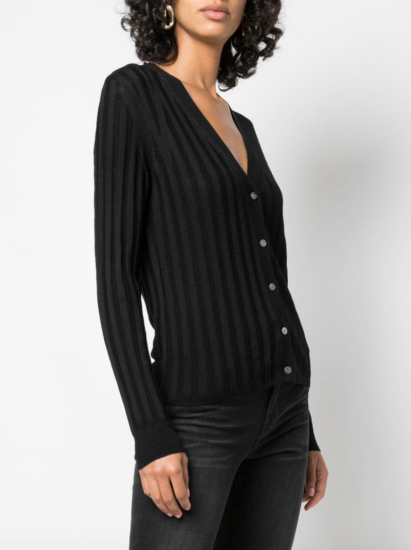 Nili Lotan Brenna Cardigan in Black