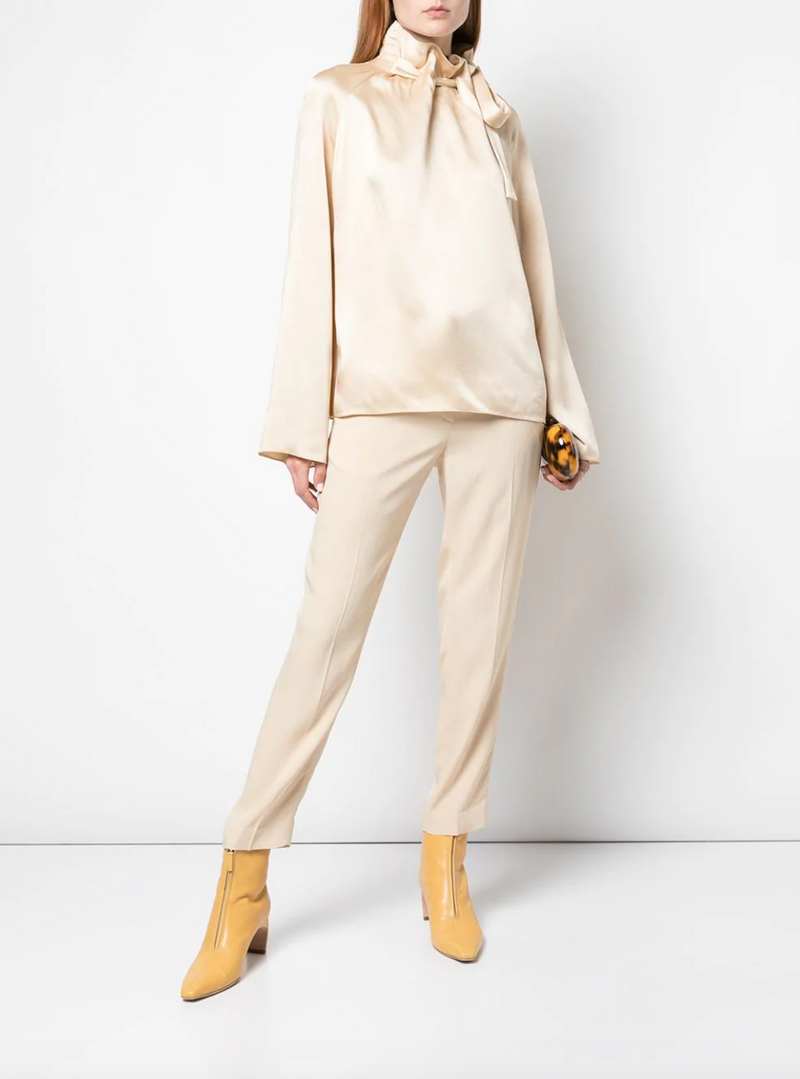 Rosetta Getty Cropped Tapered Pant in Clay