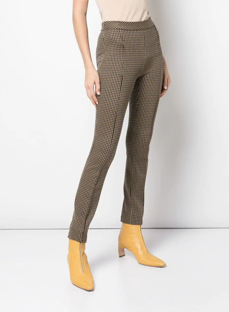 Rosetta Getty Pintuck Skinny Pull On Pant