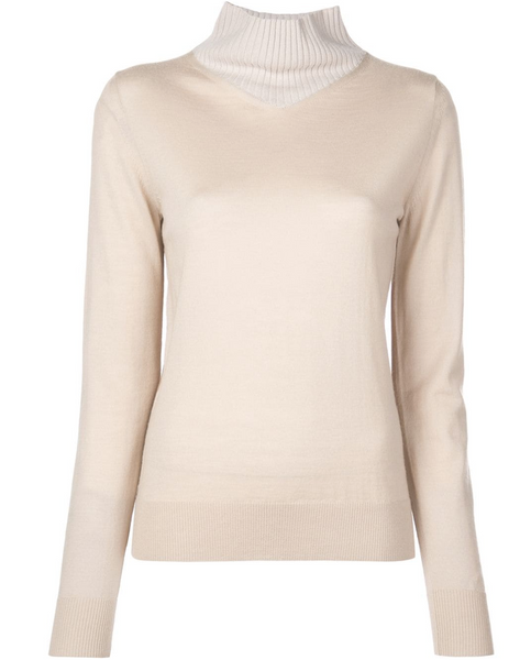 Rosetta Getty V Neck Turtleneck Sweater