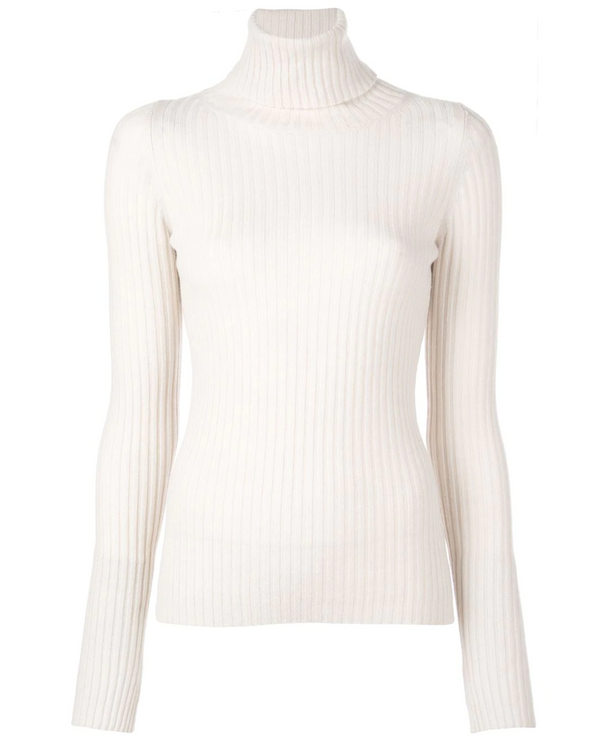 Nili Lotan Myla Turtleneck in Ivory