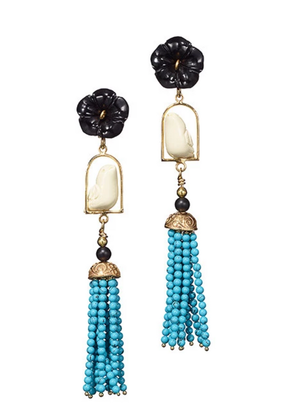 Of Rare Origin Swingers Earrings in Howlite