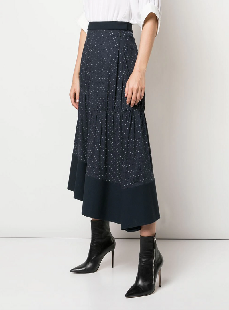 Tibi Shirred Panel Skirt