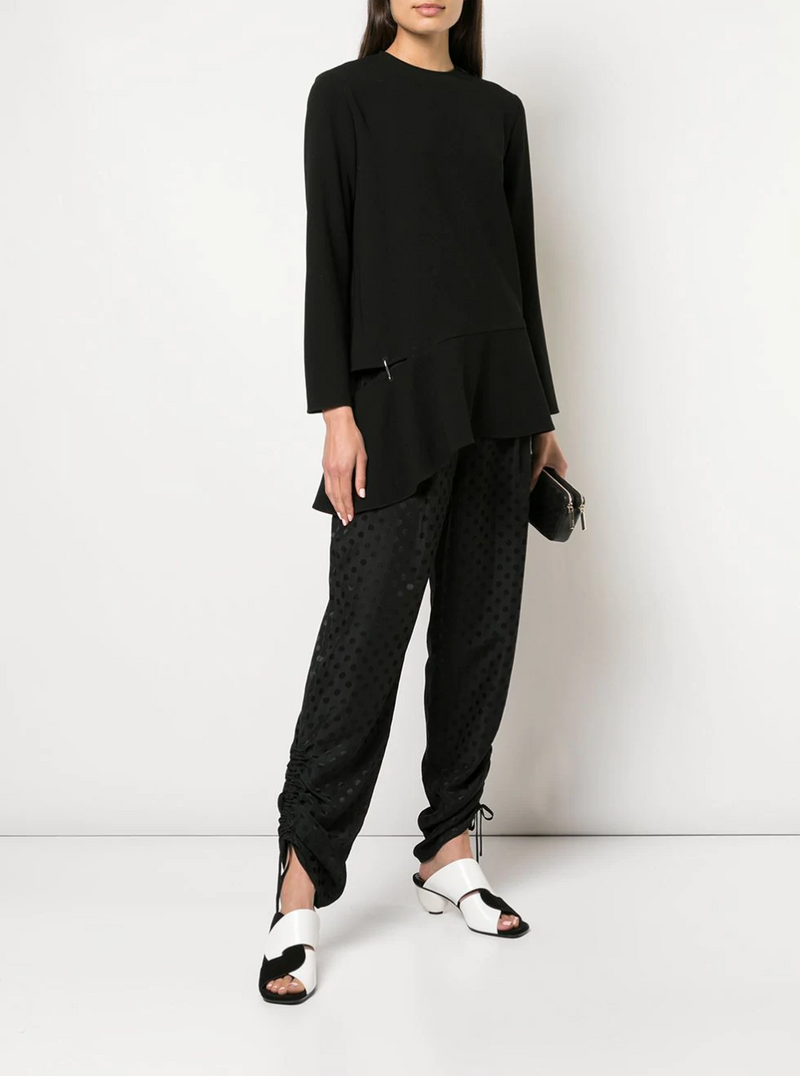 Tibi Long Sleeve Top with Detached Hem