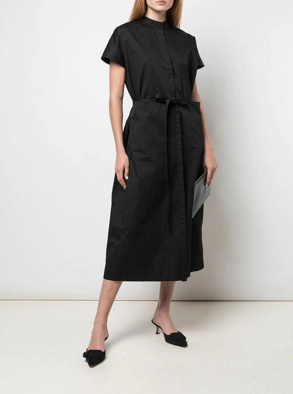Co. Sleeveless Half Placket Dress in Black