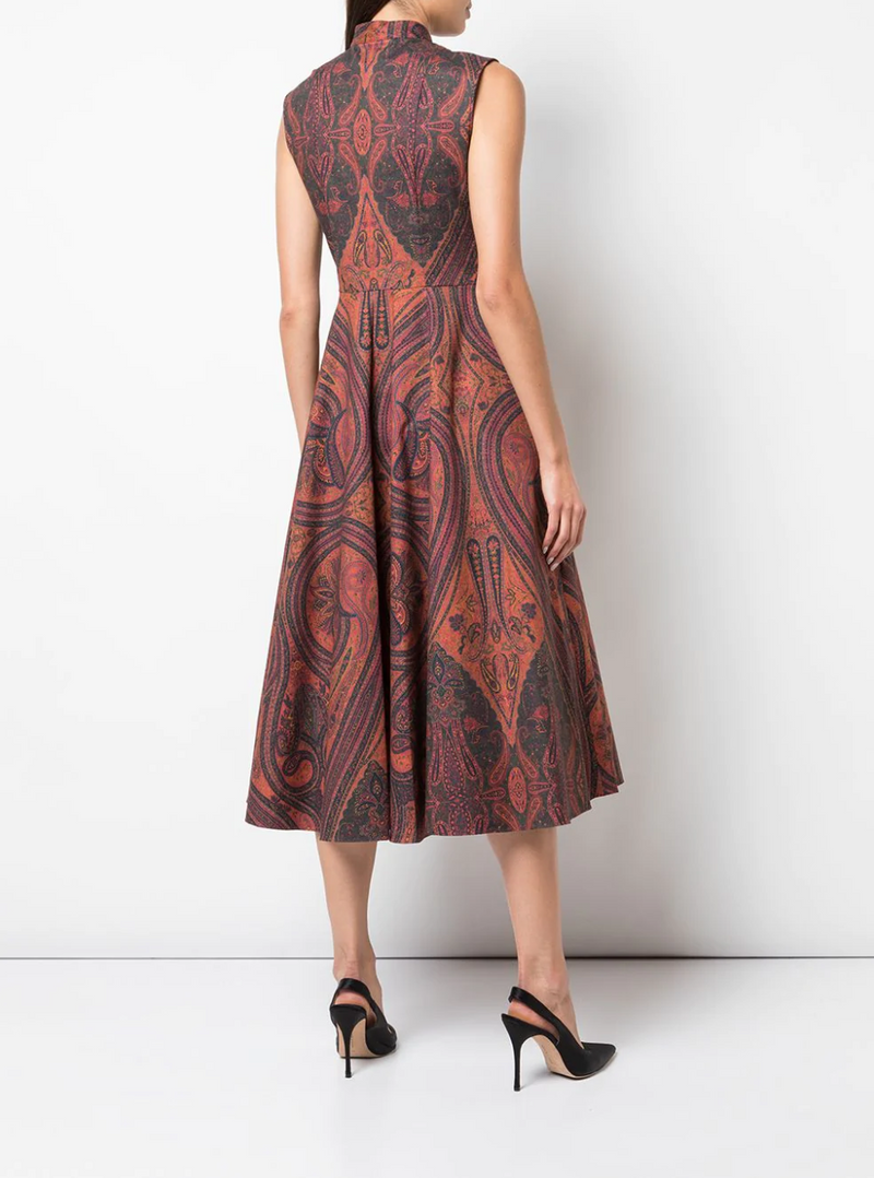 Adam Lippes Printed Cotton Sleeveless Dress