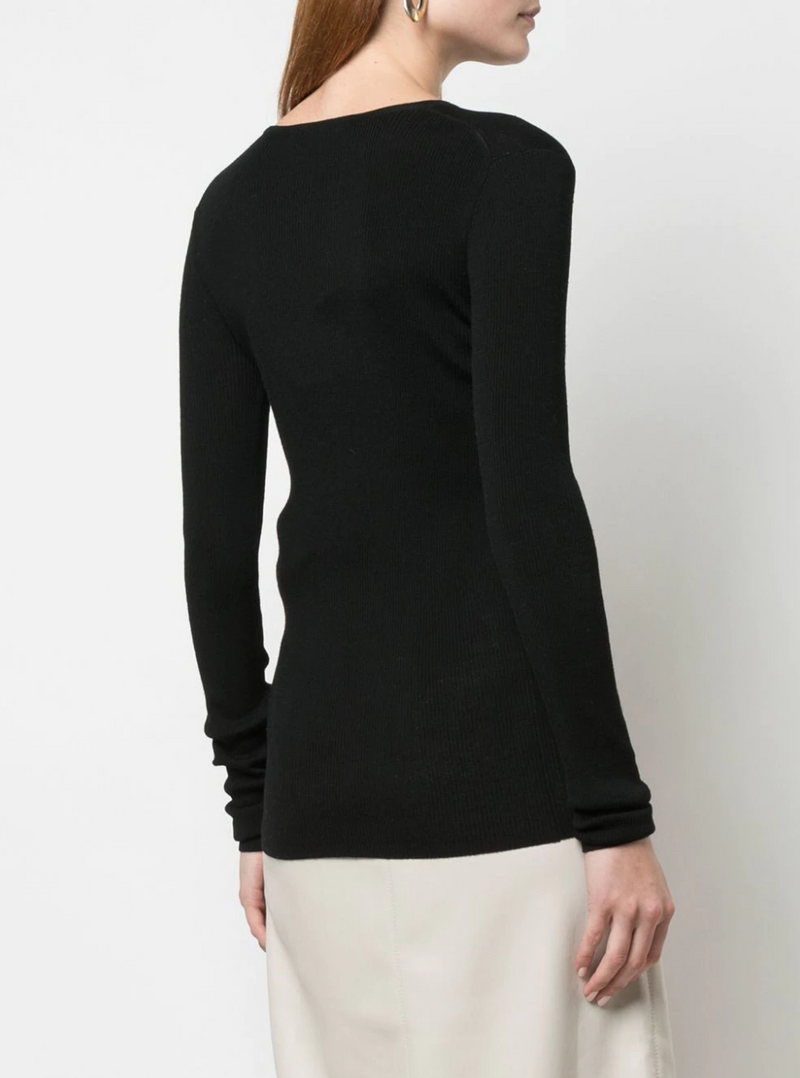 Tibi Crewneck Pullover in Black