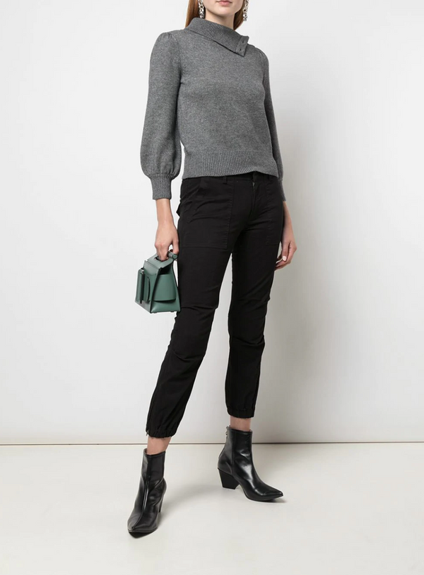 Nili Lotan Cropped Military Pant - Jet Black @ Hero Shop SF