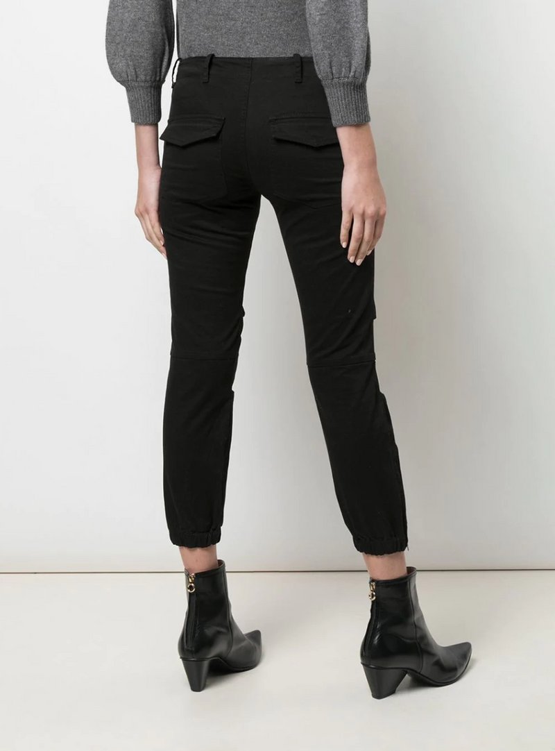 Cropped Military Pant - Jet Black